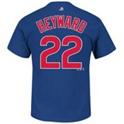 Men's Majestic Chicago Cubs Jason Heyward Player Name and Number Tee