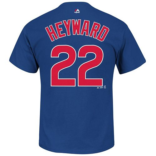 super popular a72af 9d0cb Men's Majestic Chicago Cubs Jason Heyward Player Name and Number Tee