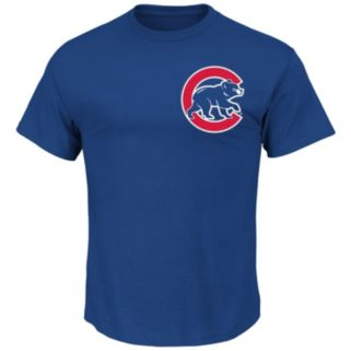 Men's Majestic Chicago Cubs Ben Zobrist Player Name and Number Tee