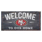 San Francisco 49ers Distress Welcome Sign