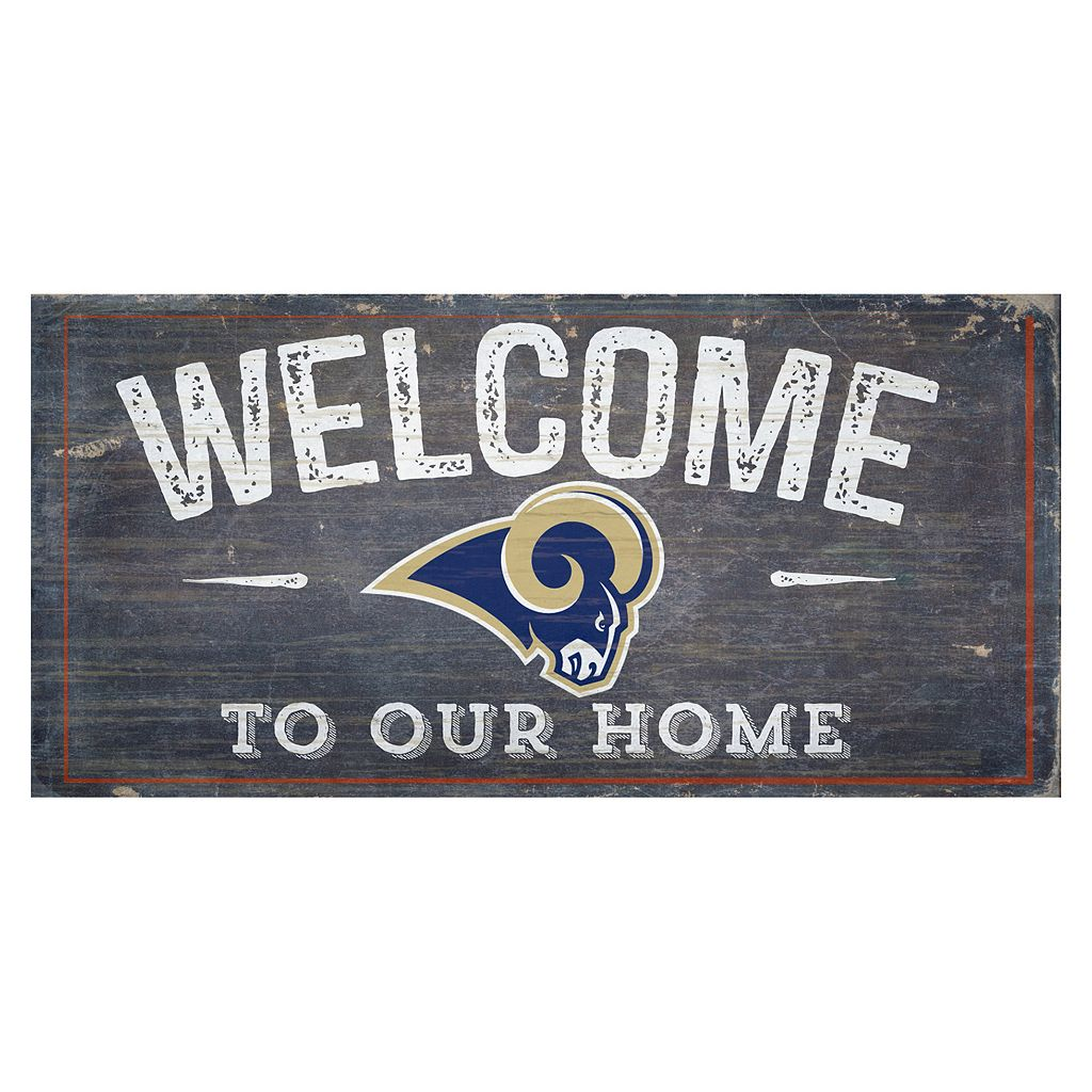 Los Angeles Rams Distress Welcome Sign