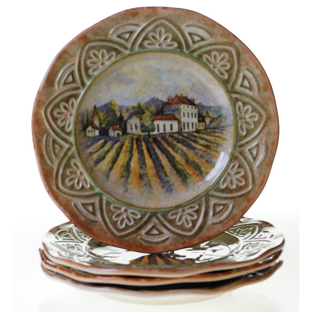 Certified International Sanctuary Wine 4-pc. Dinner Plate Set