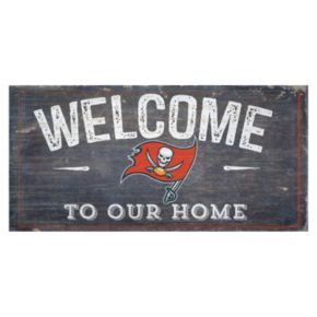 Tampa Bay Buccaneers Distress Welcome Sign