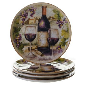 Certified International Sanctuary Wine 4-pc. Salad Plate Set