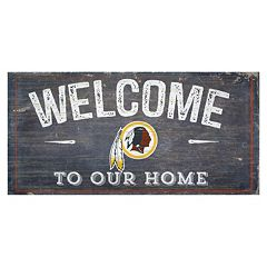 Washington Redskins Distress Welcome Sign