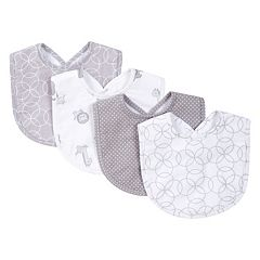 Trend Lab 4-pk. Gray & White Circles Bib Set