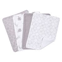 Trend Lab 4 pkGray & White Circles Burp Cloth Set