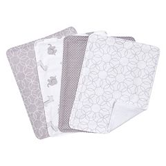 Trend Lab 4-pk. Gray & White Circles Burp Cloth Set