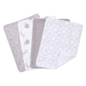 Trend Lab 4-pk. Gray & White Circles Burp Cloth Set