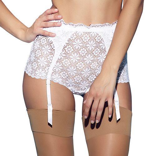 Jezebel Lulu Crochet Lace Garter Brief 44044