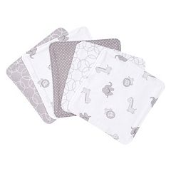Trend Lab 5 pkGray & White Circles Wash Cloth Set
