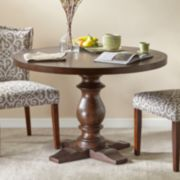 Madison Park Turned Leg Henry Round Dining Table