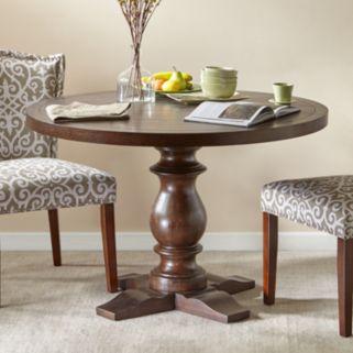 Madison Park Turned Leg Henry Round Dining Table