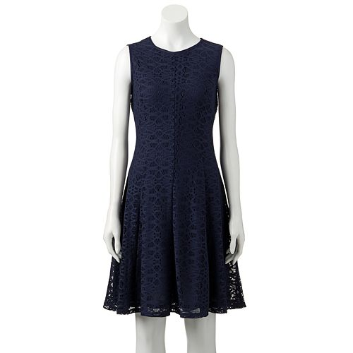 Womens Tiana B Lace Fit Flare Dress