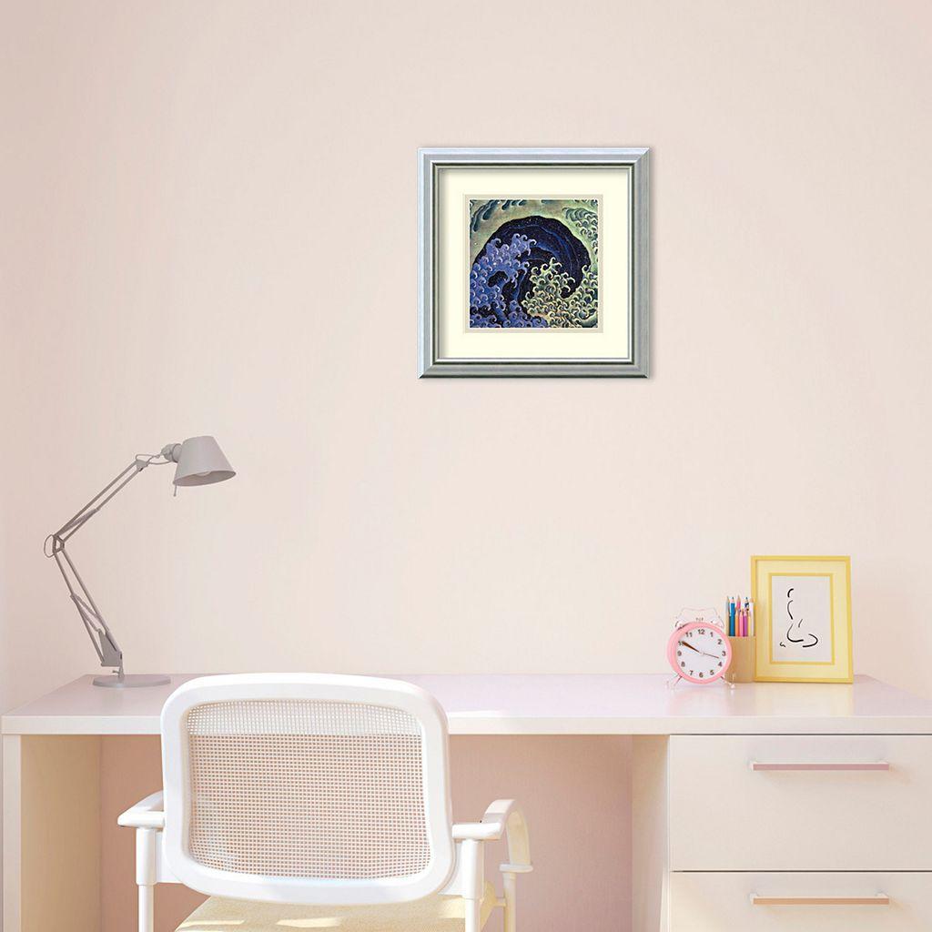 Amanti Art Katsushika Hokusai Feminine Wave Framed Wall Art