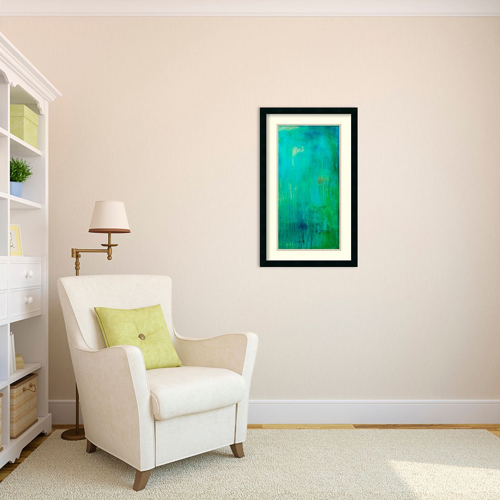 Amanti Art Erin Ashley Blue Mountain Rain II Framed Wall Art