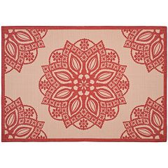 Safavieh Courtyard Floral Medallion Indoor Outdoor Rug