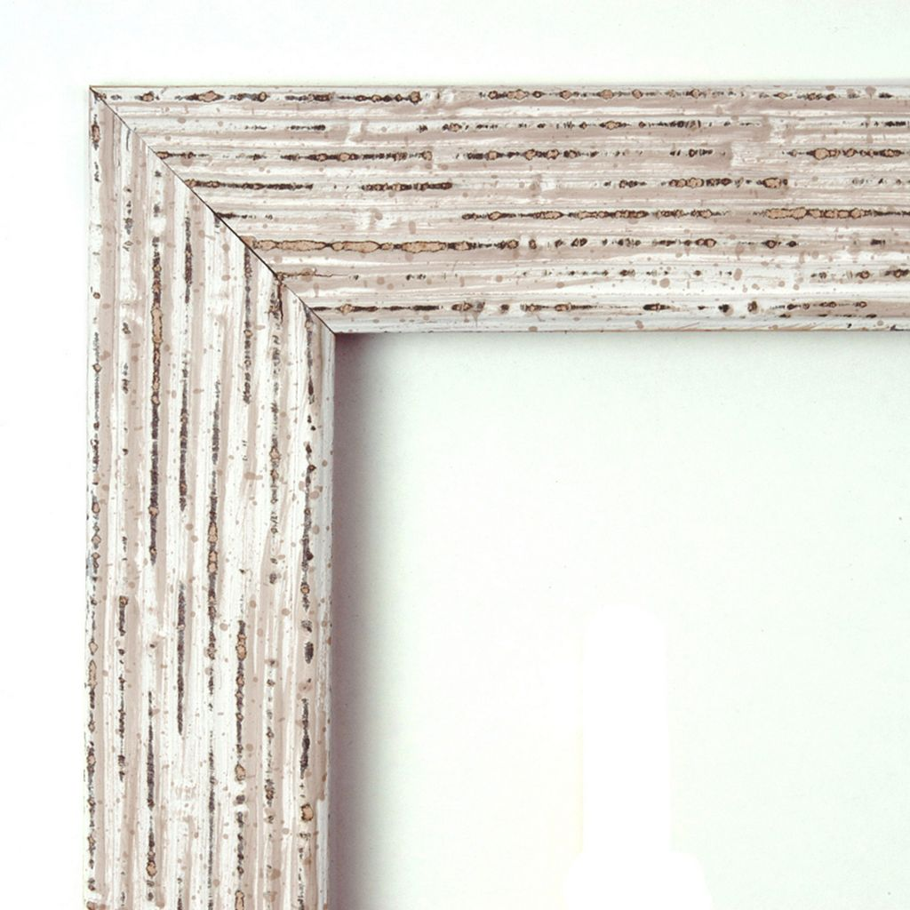 Amanti Art Cape Cod Whitewash Distressed Wood Large Wall Mirror