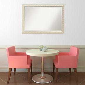Amanti Art Cape Cod Whitewash Distressed Wood Large Wall Mirror