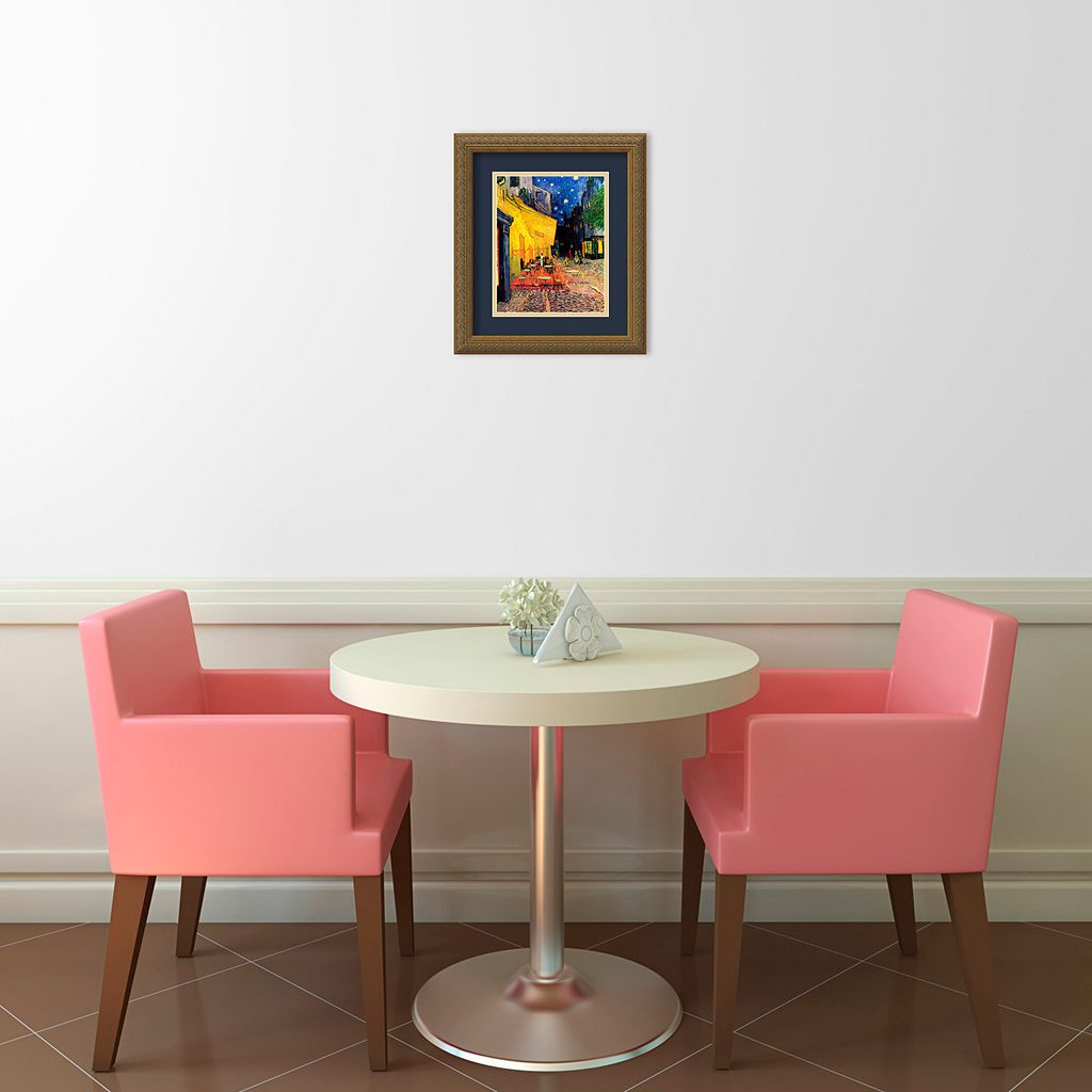 Amanti Art Cafe Terrace At Night Framed Wall Art by Vincent van Gogh