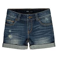 Girls 7-16 Levi's Distressed Denim Boyfriend Shortie Shorts
