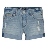 Girls 7-16 Levi's Ripped Boyfriend Denim Shortie Shorts