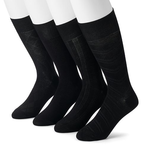 Men's Croft & Barrow 4-Pack Textured Chevron Dress Socks