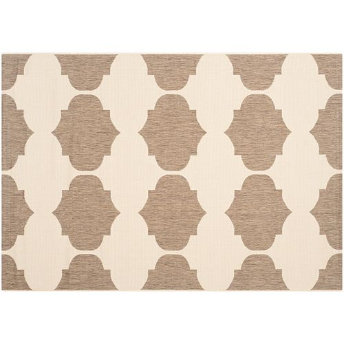 Safavieh Courtyard Jasmine Quatrefoil Indoor Outdoor Rug