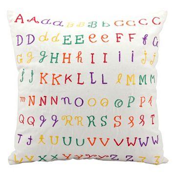Kids Mina Victory Alphabet Throw Pillow