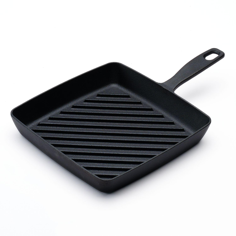 Pre-Seasoned Cast-Iron Grill Pan