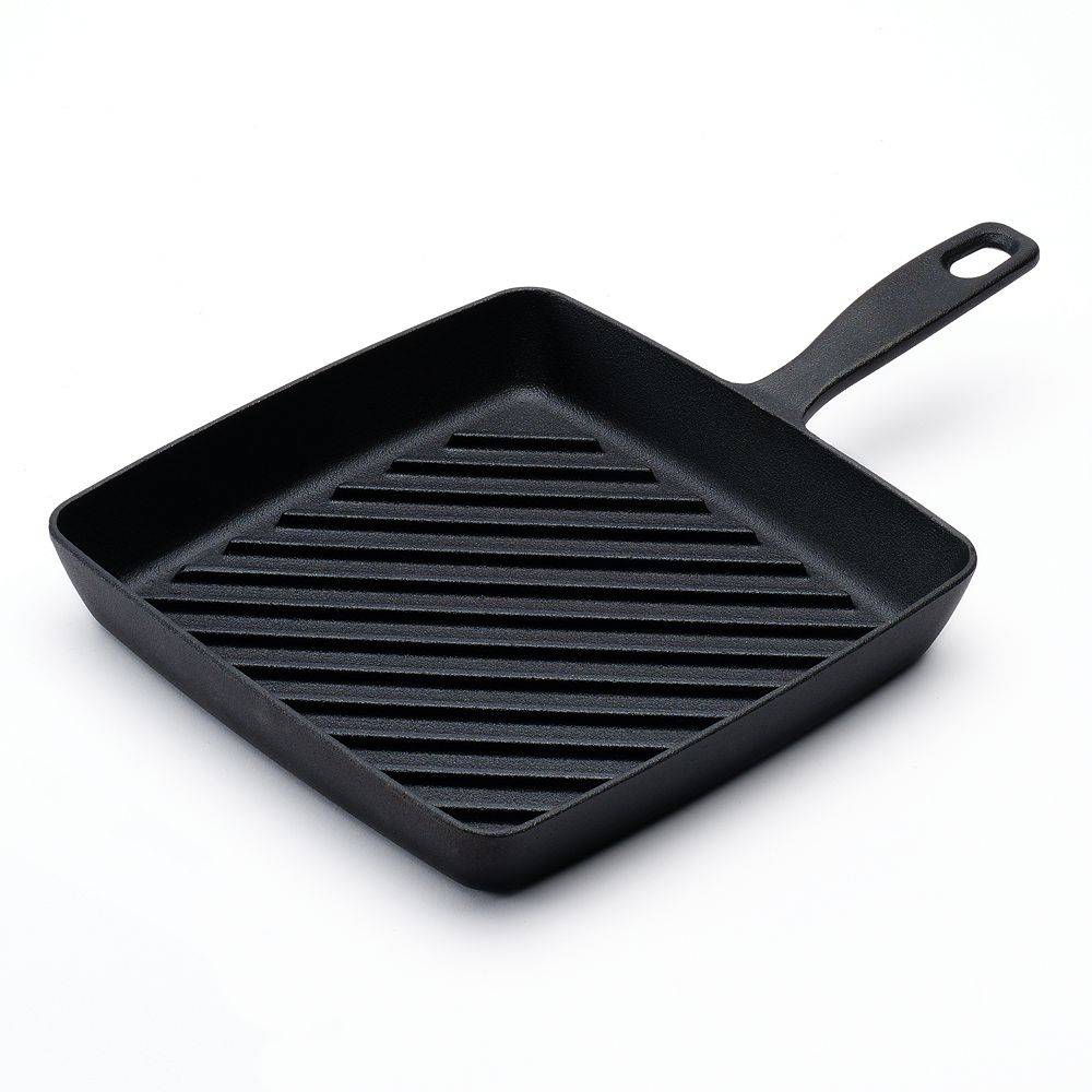 Food Network™ 9 8-in  Pre-Seasoned Cast-Iron Grill Pan