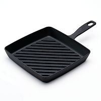Food Network™ 9.8-in. Pre-Seasoned Cast-Iron Grill Pan