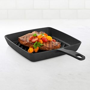 Food Network? 9.8-in. Pre-Seasoned Cast-Iron Grill Pan