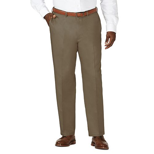 Big & Tall Haggar® Work to Weekend® Classic-Fit Flat-Front Expandable Waist Pants