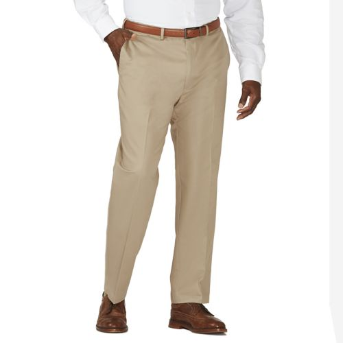 Haggar® Work to Weekend® Flat-Front Expandable Waist Khakis - Big & Tall