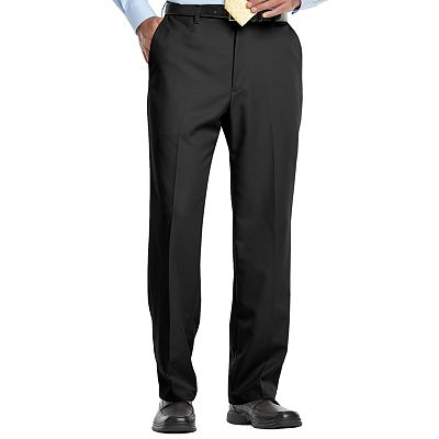 Haggar Cool 18 Flat-Front Microfiber Pants - Big and Tall
