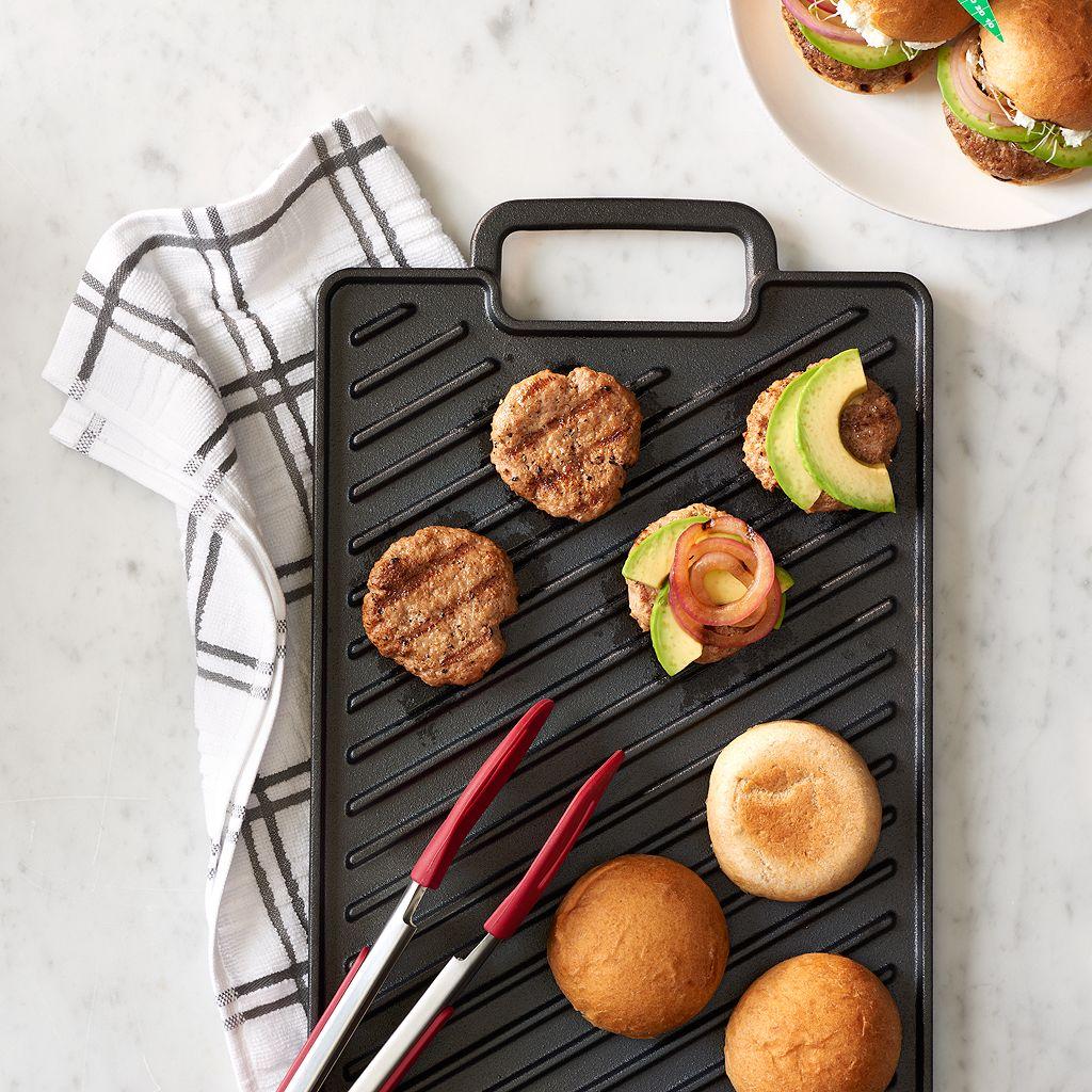 Food Network™ Pre-Seasoned Cast-Iron Reversible Grill