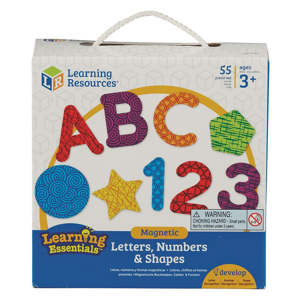 Learning Resources Magnetic Letters, Numbers & Shapes Set