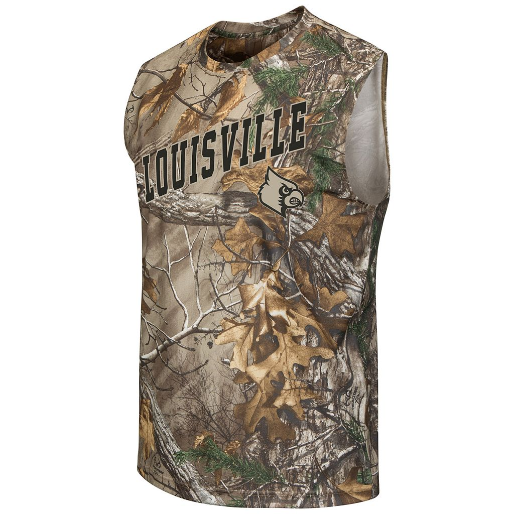 Men's Campus Heritage Louisville Cardinals Realtree Muscle Tee
