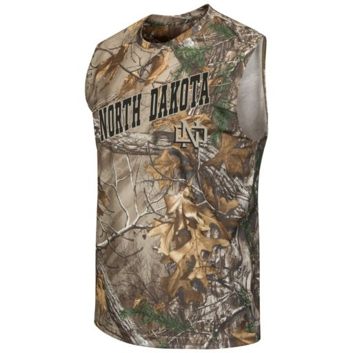 Men's Campus Heritage North Dakota Realtree Muscle Tee