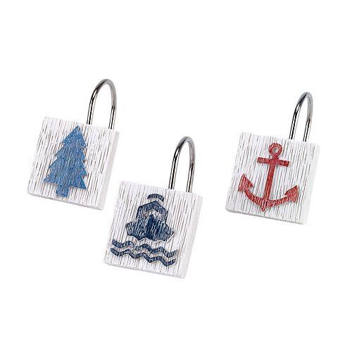 Avanti Lake Words 12-pack Shower Hooks