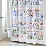 Avanti Lake Words Shower Curtain