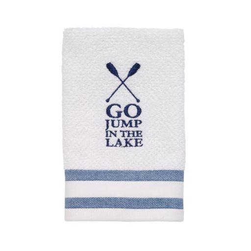 Avanti Lake Words Fingertip Towel