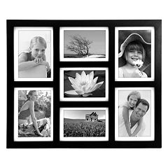 Malden Matted Black 7-Opening 4' x 6' Collage Frame
