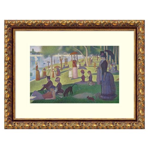 Amanti Art Sunday Afternoon on the Island of La Grande Jatte Framed Wall Art by Georges Seurat