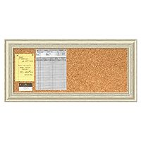 Amanti Art Country Whitewash Distressed Wood Cork Bulletin Board