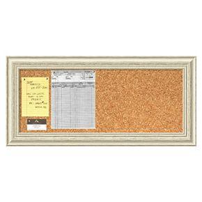 Amanti Art Country Whitewash Distressed Wood Cork Bulletin Board