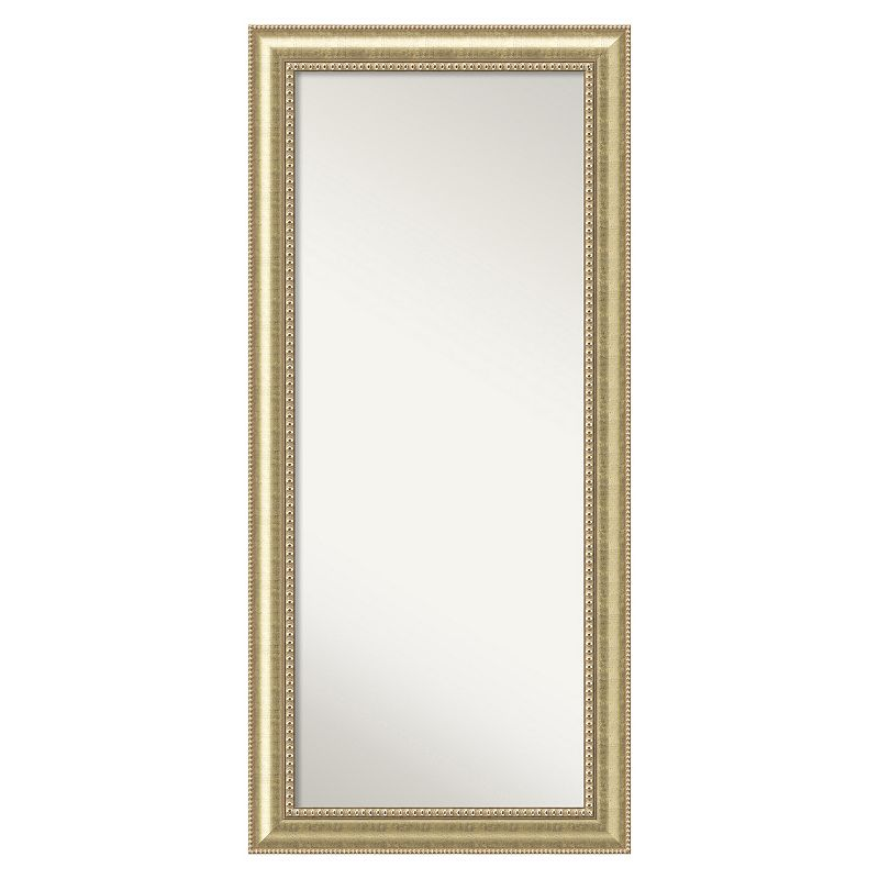 Amanti Art Astoria Champagne Finish Wood Floor Mirror, Other Clrs