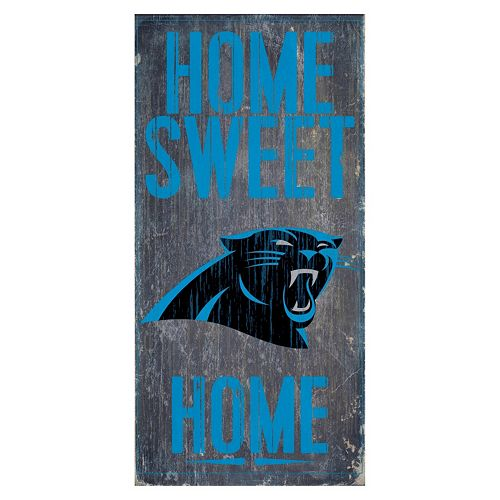 Carolina Panthers Home Sweet Home Sign