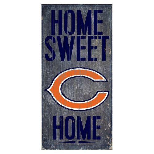 Chicago Bears Home Sweet Home Sign
